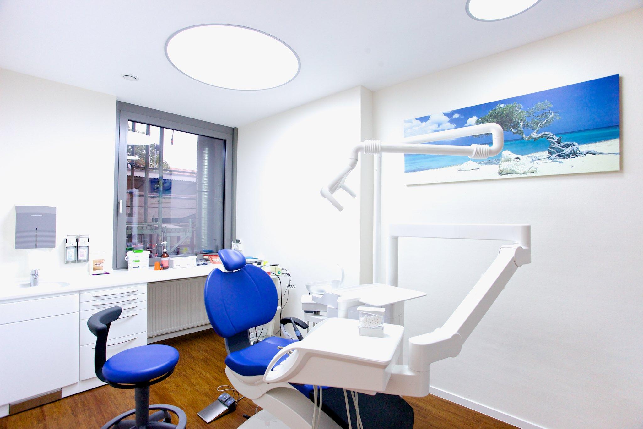 Die neuen modernen Behandlungszimmer.